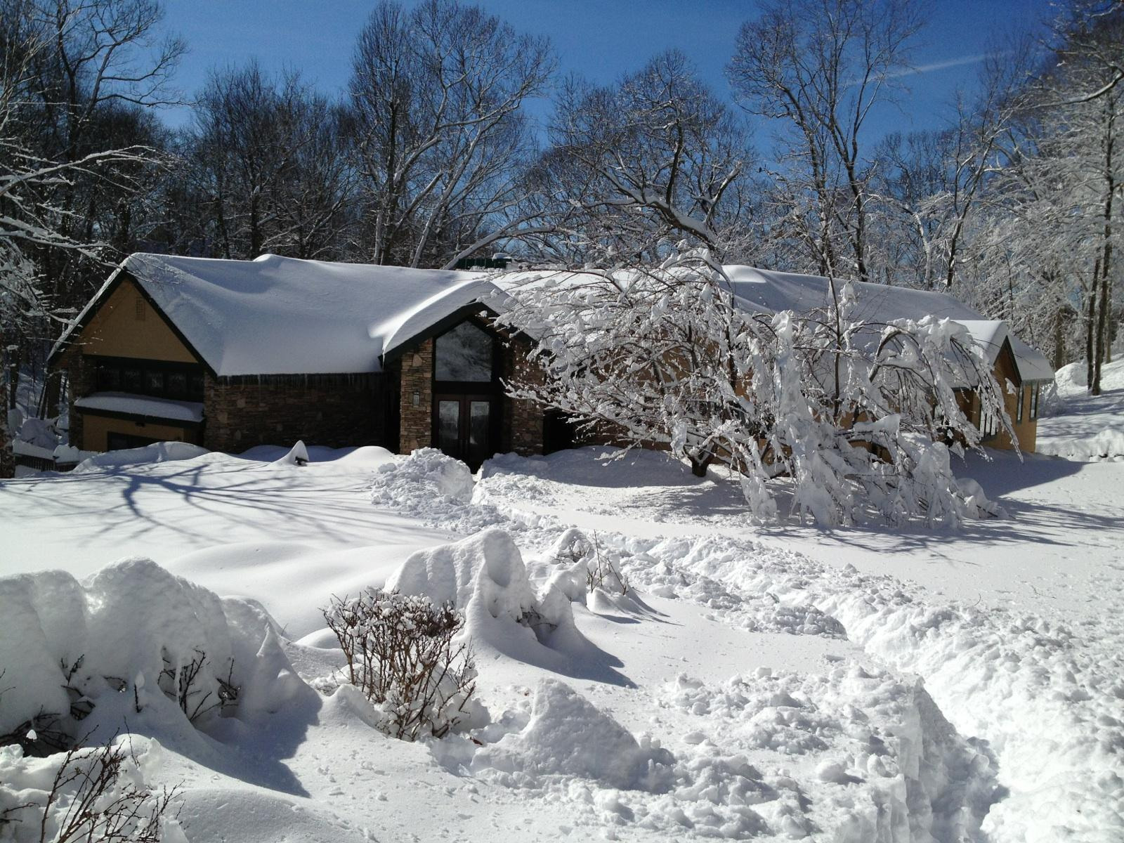 Michigan snow covered home